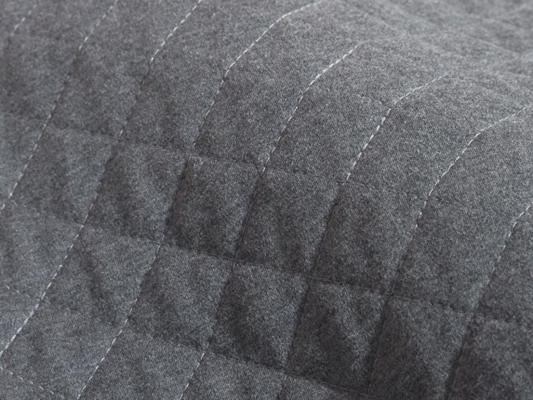 Dark grey melange Quilted Jersey and Check Cotton Day Dress Dark Grey Melange - cell image 1