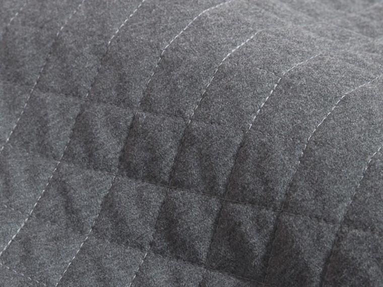 Grigio scuro mélange Abito da giorno in jersey trapuntato e cotone con motivo check Grigio Scuro Mélange - cell image 1