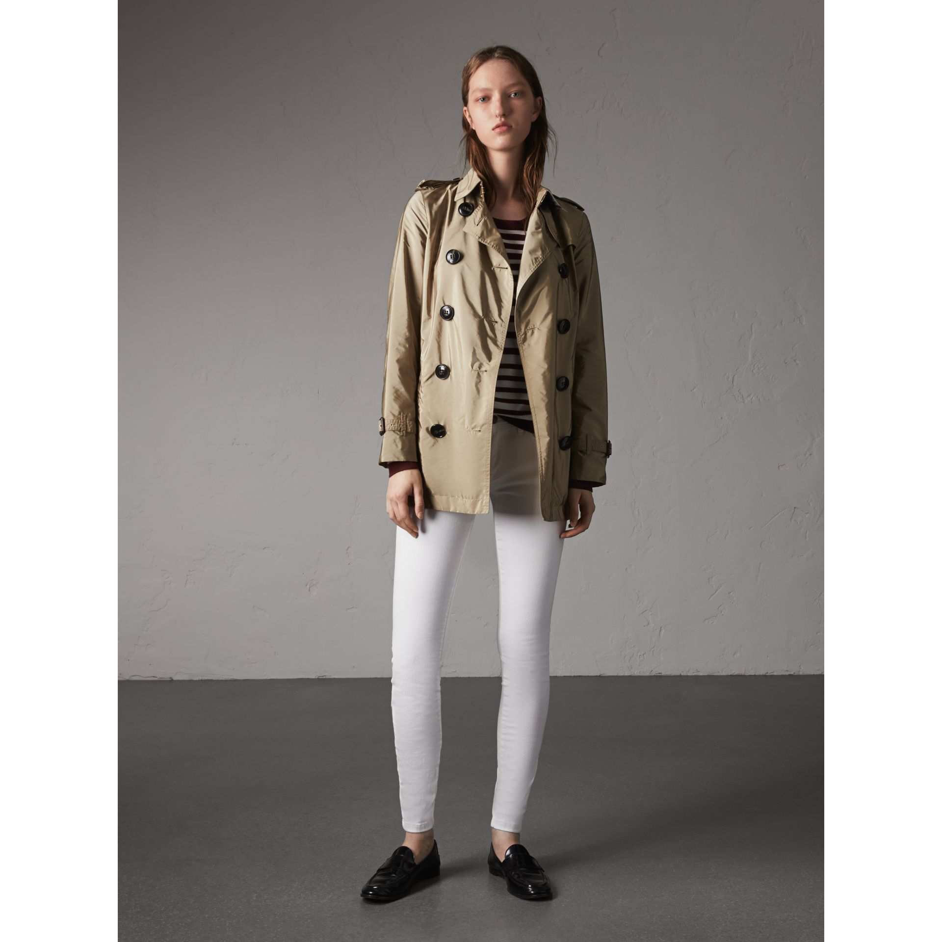 Lightweight Trench Coat in Sisal - gallery image 6
