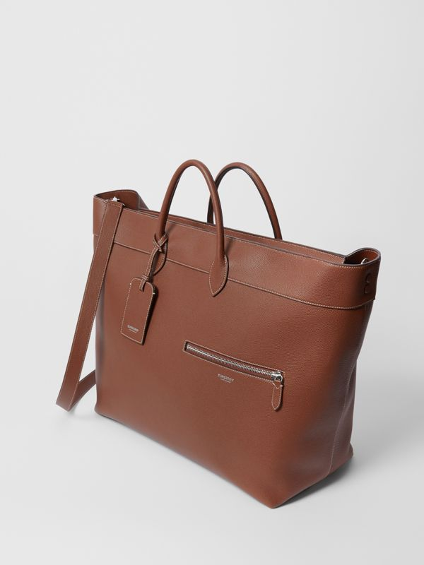 Grainy Leather Holdall in Tan - Men | Burberry Canada - cell image 3