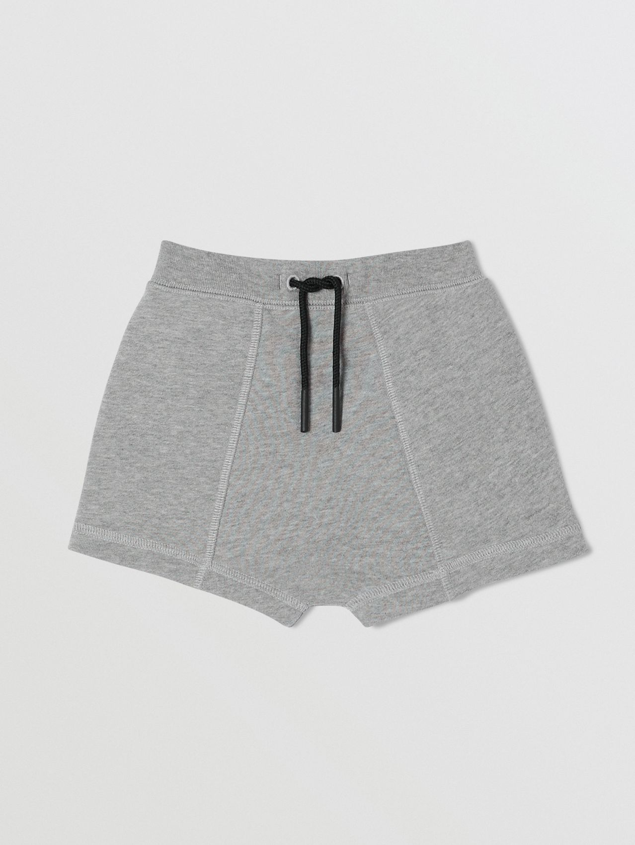 Logo Tape Cotton Drawcord Shorts in Grey Melange