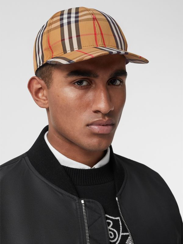 Vintage Check Baseball Cap in Antique Yellow | Burberry United Kingdom - cell image 3