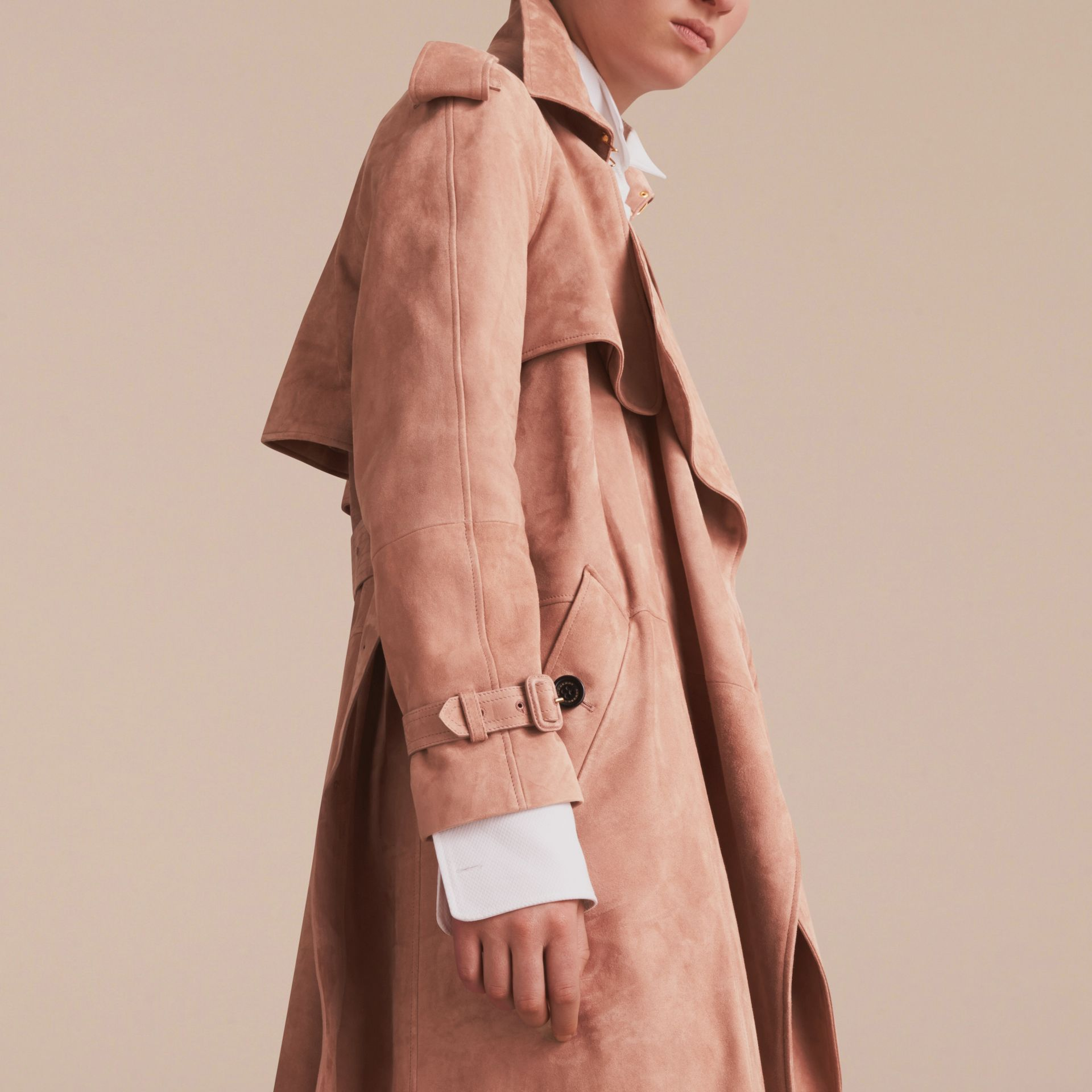 Suede Wrap Trench Coat - Women | Burberry - gallery image 5