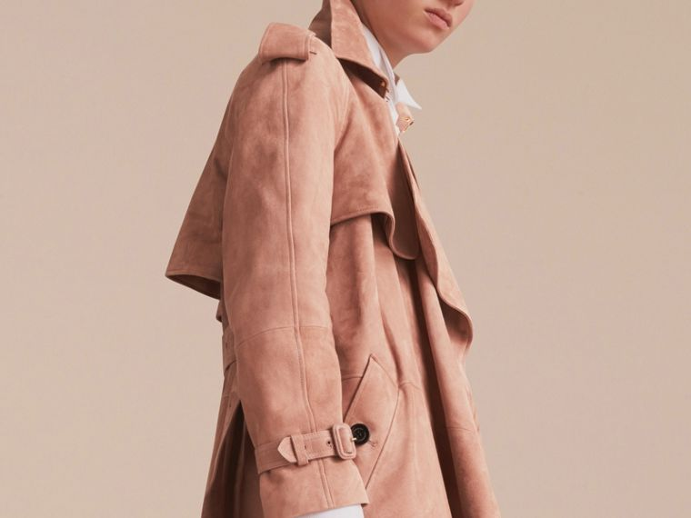 Suede Wrap Trench Coat - Women | Burberry - cell image 4