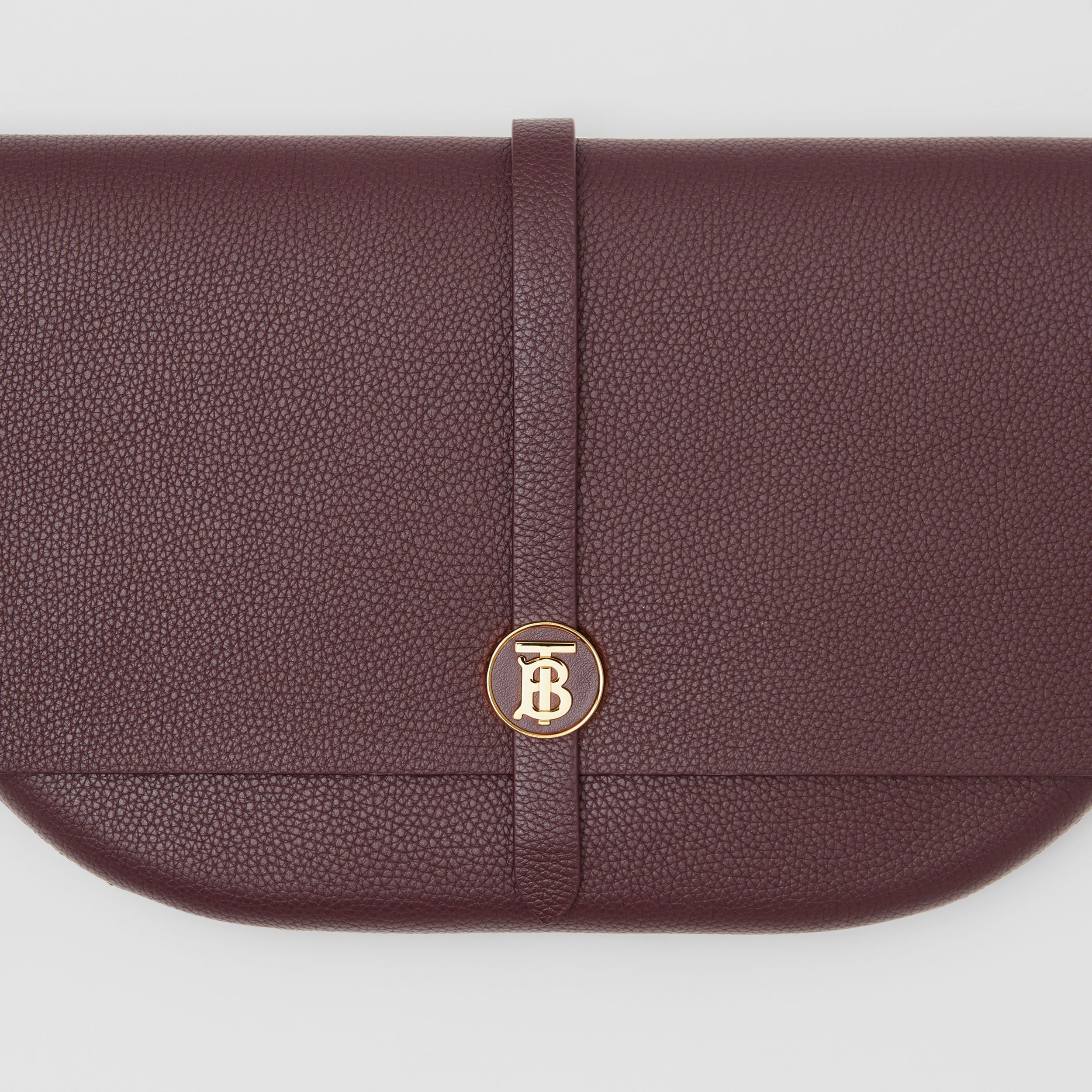 Grainy Leather Anne Clutch in Dark Walnut - Women | Burberry - 2