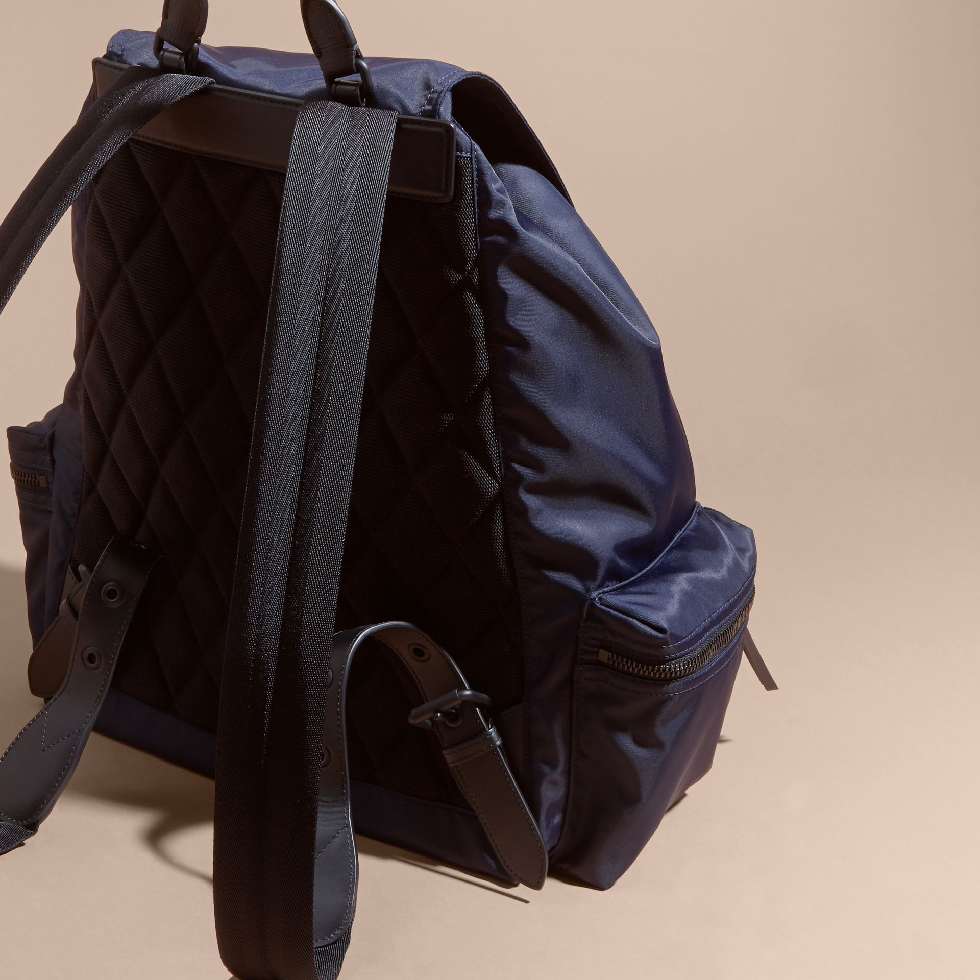 The Extra Large Rucksack in Technical Nylon and Leather - gallery image 3