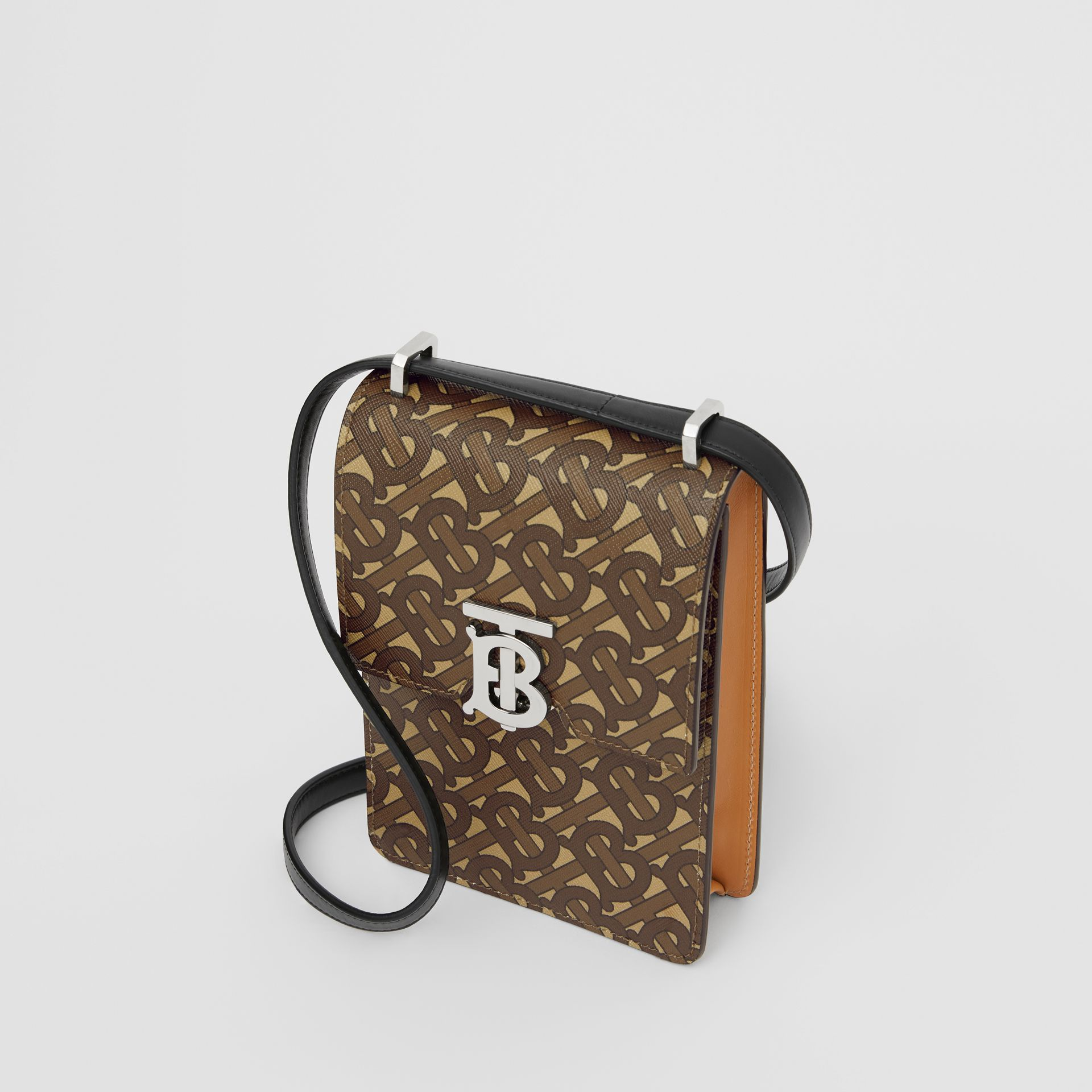 Monogram Print E-canvas Robin Bag in Bridle Brown | Burberry United Kingdom - gallery image 4