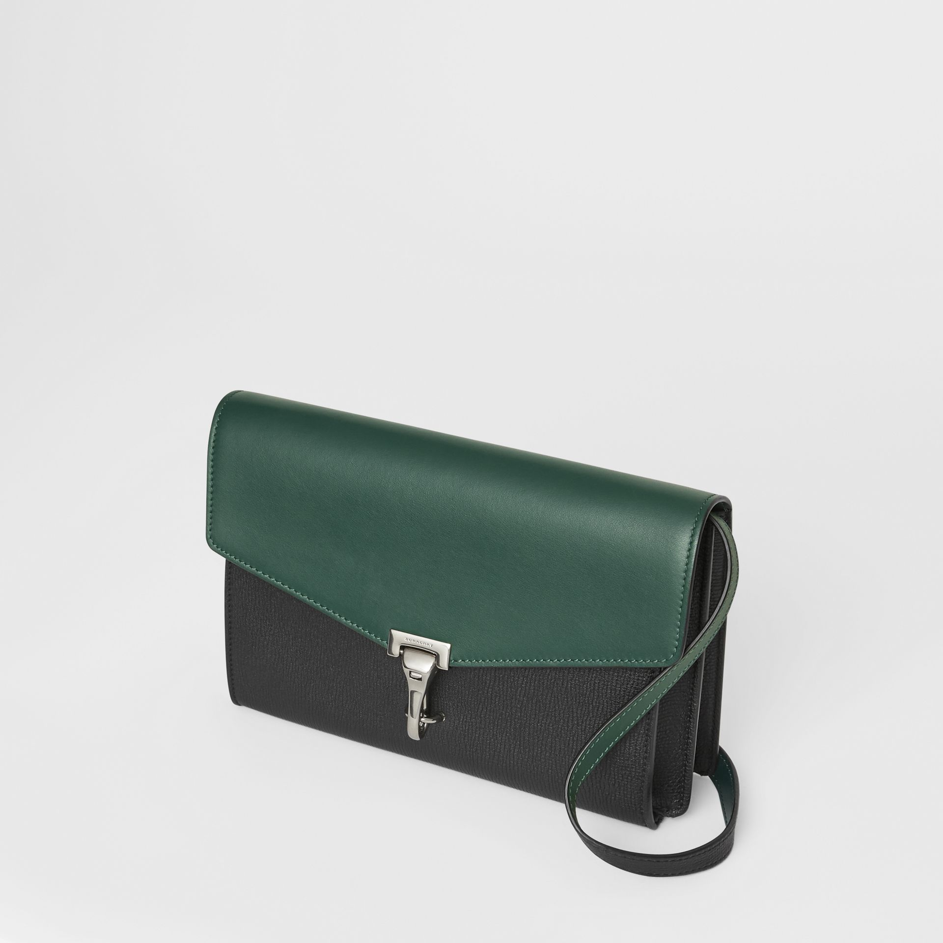 Two-tone Leather Crossbody Bag in Black/sea Green - Women | Burberry United Kingdom - gallery image 4