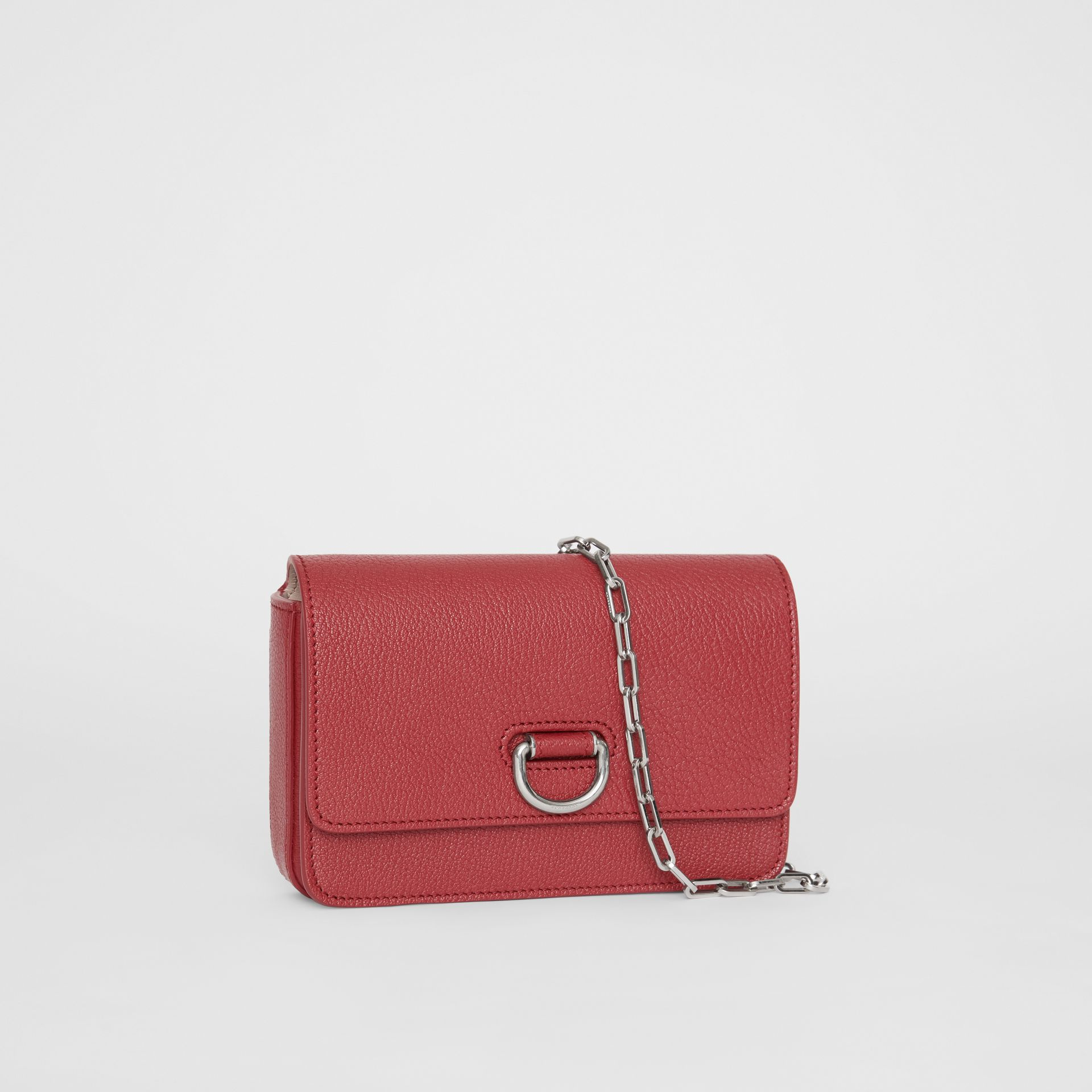 The Mini Leather D-ring Bag in Crimson - Women | Burberry United Kingdom - gallery image 6