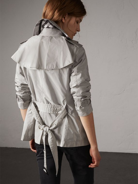 Showerproof Trench Coat in Pale Grey - Women | Burberry - cell image 2