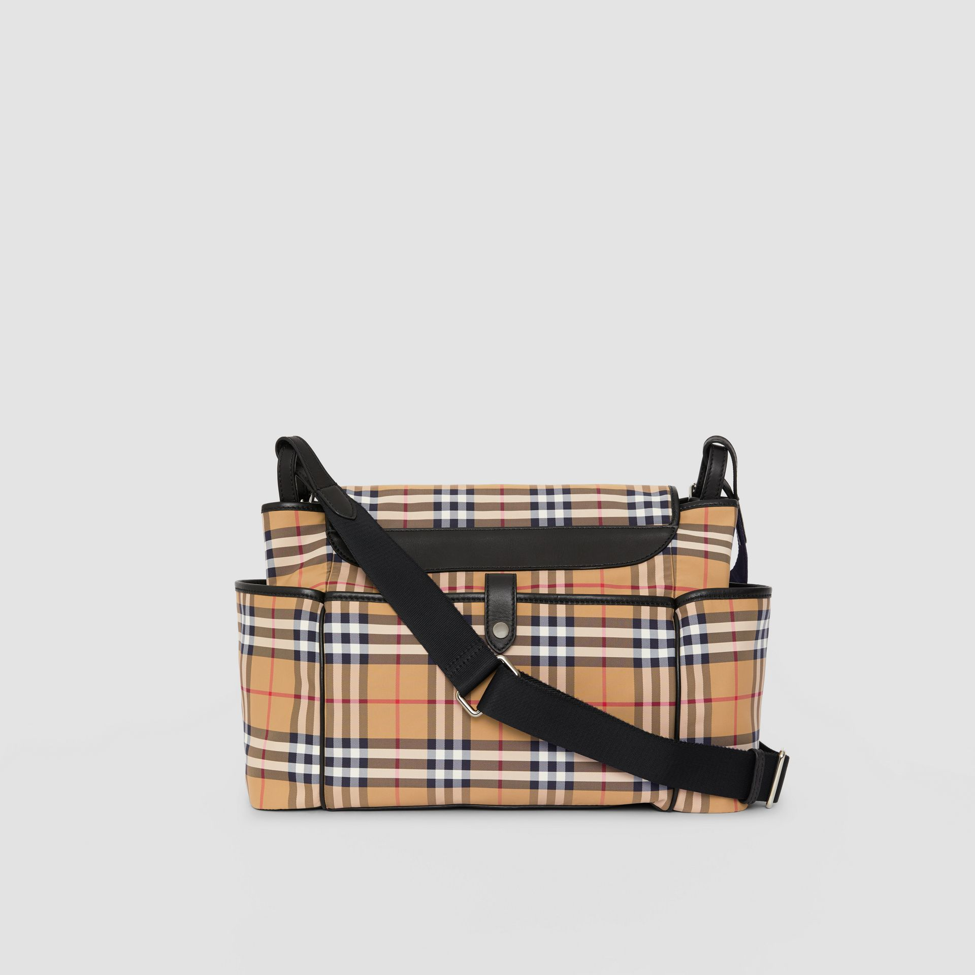 Vintage Check Baby Changing Shoulder Bag in Antique Yellow/black - Children | Burberry United Kingdom - gallery image 5