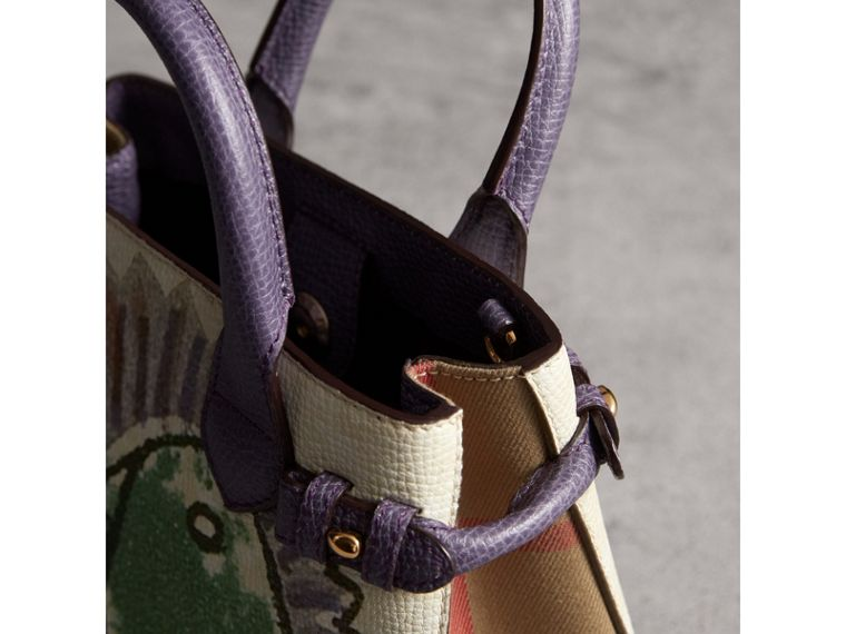 The Baby Banner in Leather with Pallas Heads Print in Dusty Violet - Women | Burberry Singapore - cell image 4