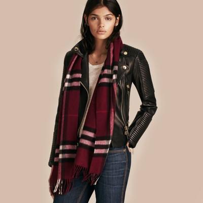 Check cashmere scarf Burberry tztSwff