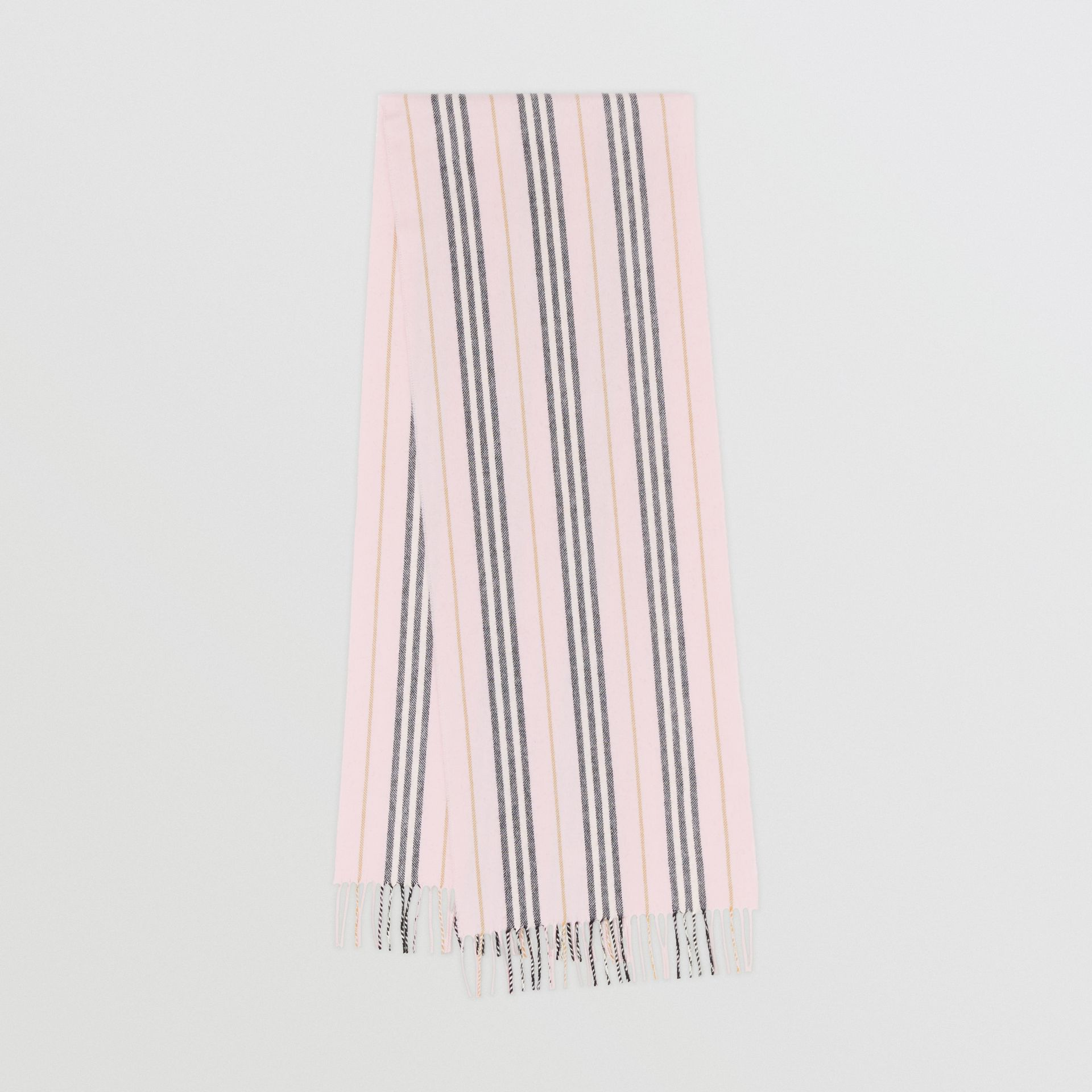 Icon Stripe Cashmere Scarf in Alabaster | Burberry - gallery image 0