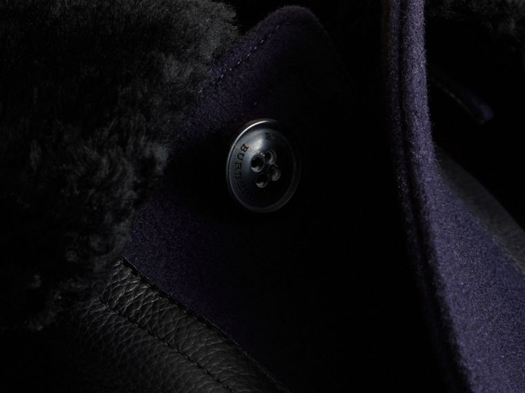 Pea Coat with Detachable Shearling Topcollar - cell image 1
