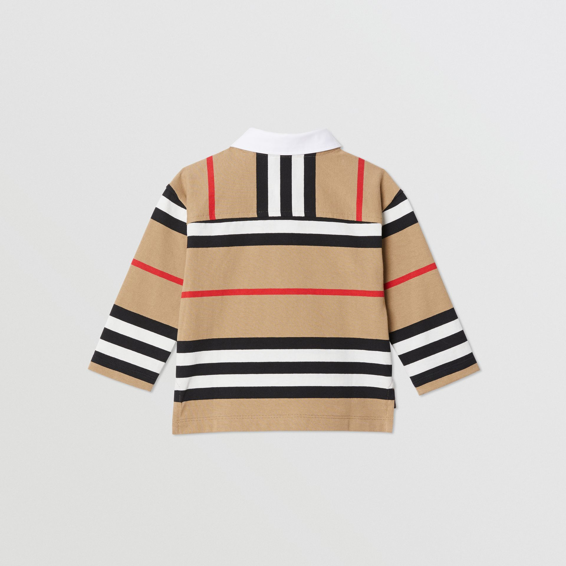 Long-sleeve Icon Stripe Cotton Top in Archive Beige - Children | Burberry United Kingdom - gallery image 3