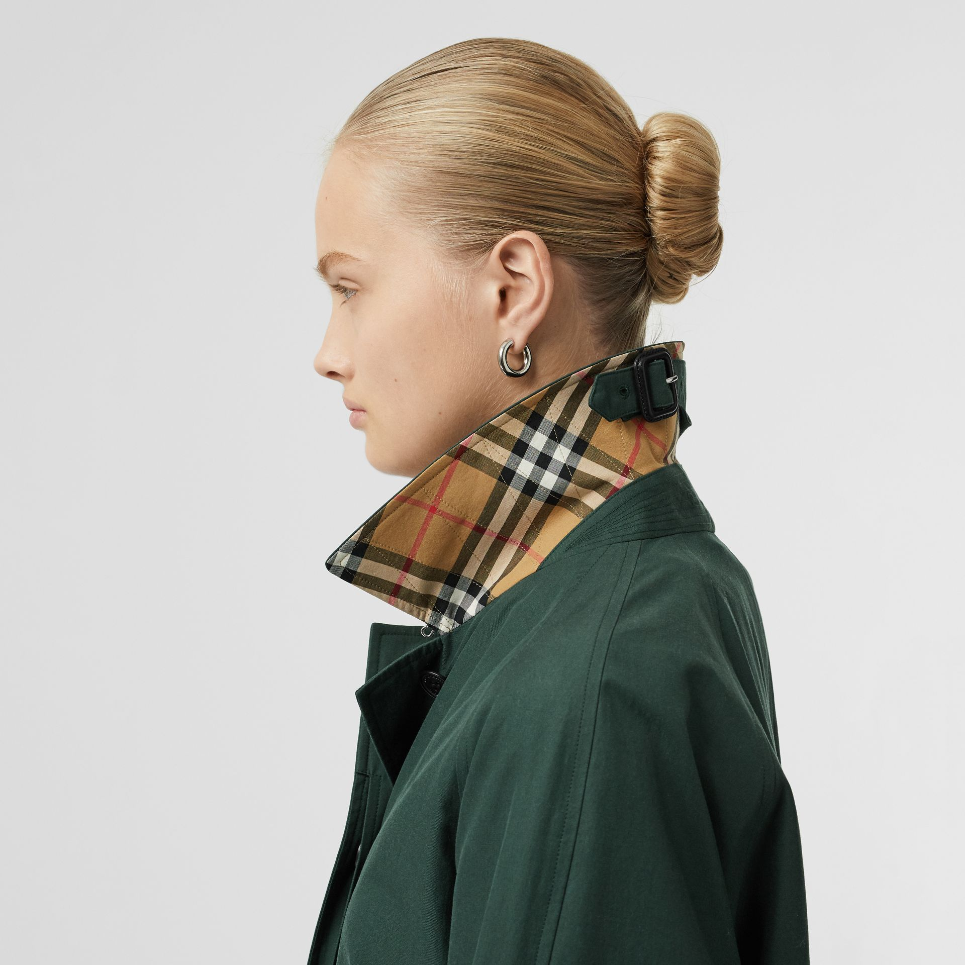 The Camden Car Coat (Smeraldo Scuro) - Donna | Burberry - immagine della galleria 4