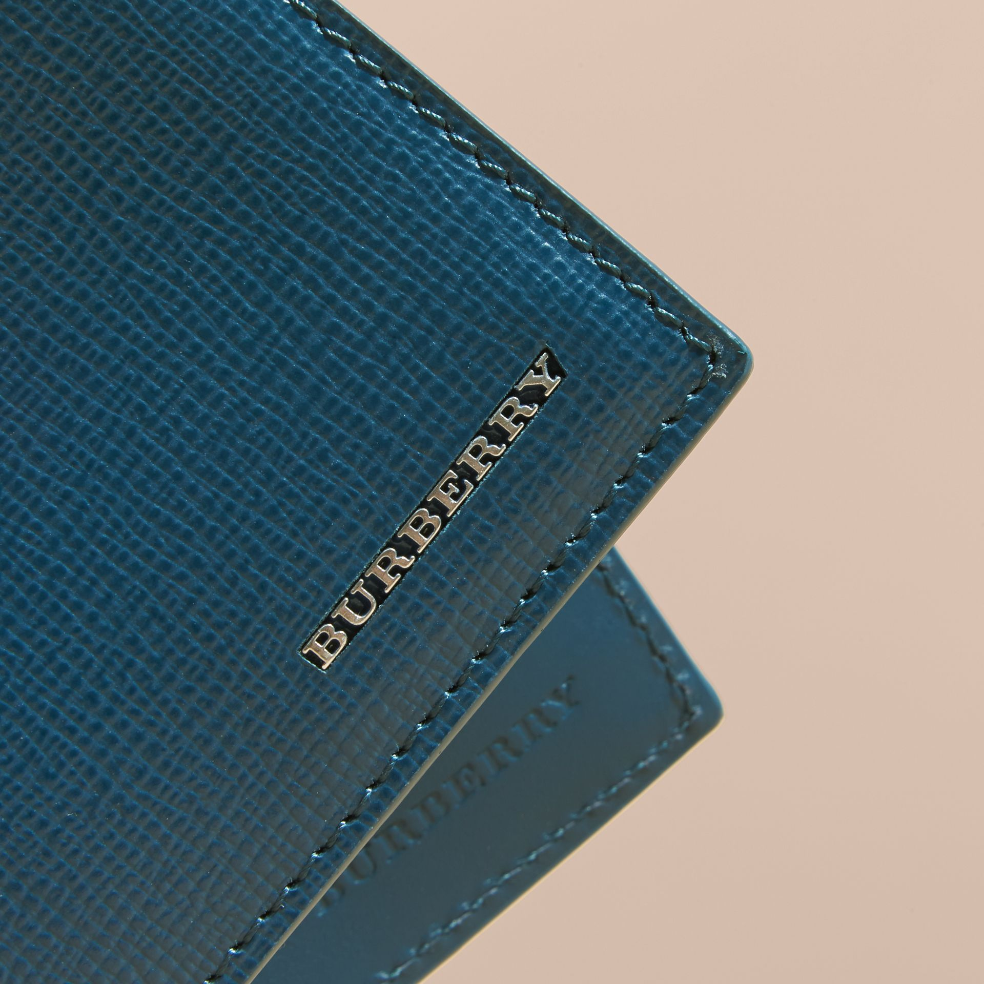 London Leather Folding Wallet Mineral Blue - gallery image 5