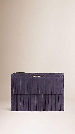 Fringed Suede Beauty Wallet