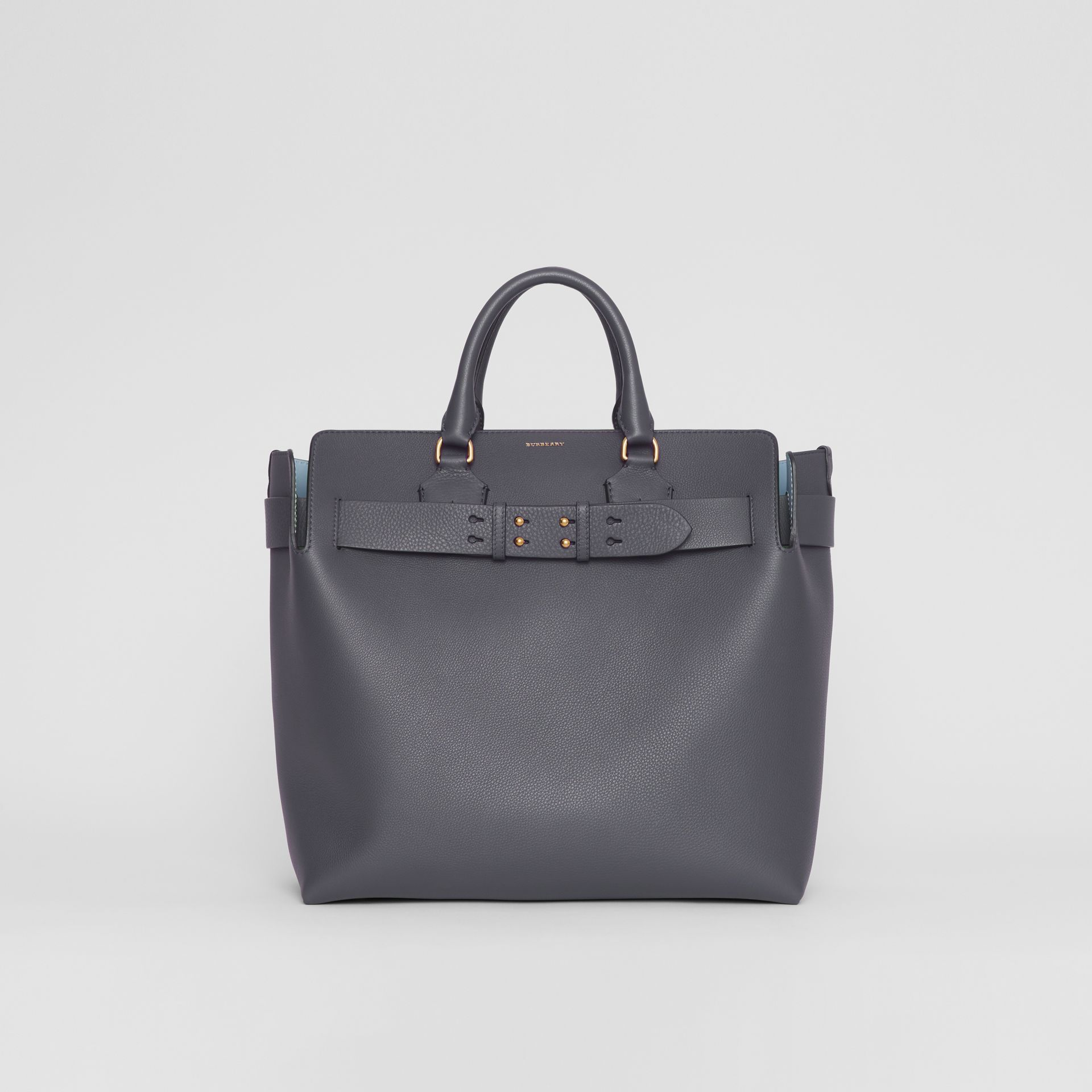 The Large Leather Belt Bag in Charcoal Grey | Burberry Australia - gallery image 0
