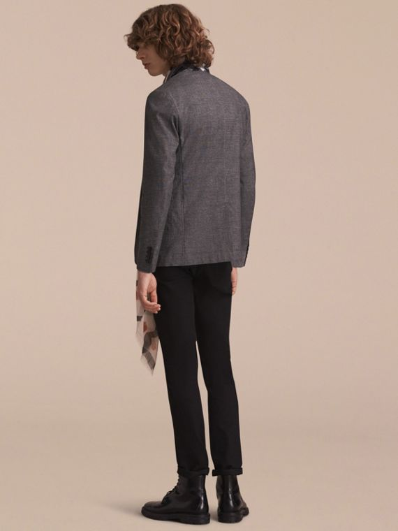 Prince of Wales Cotton Wool Blend Blazer - cell image 2