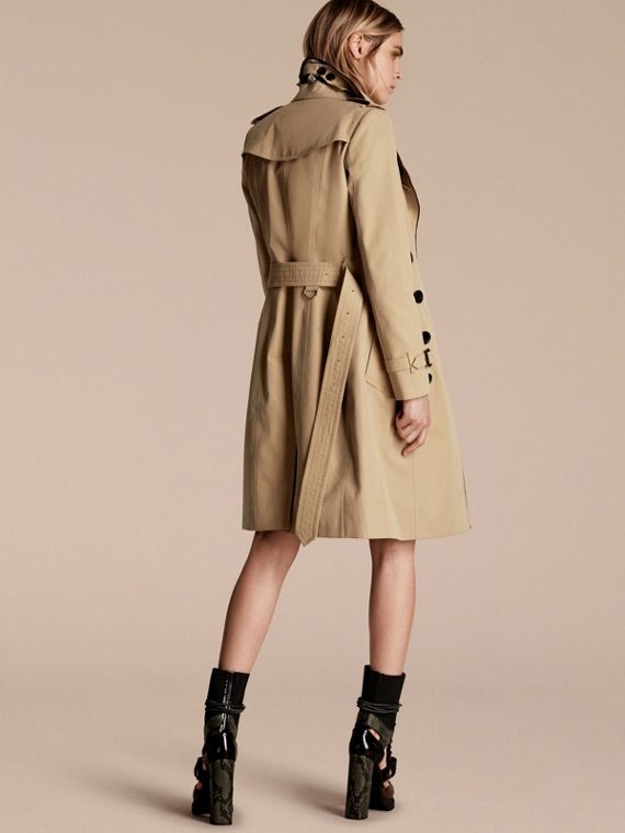 Cotton Gabardine Trench Coat with Regimental Piping - cell image 2
