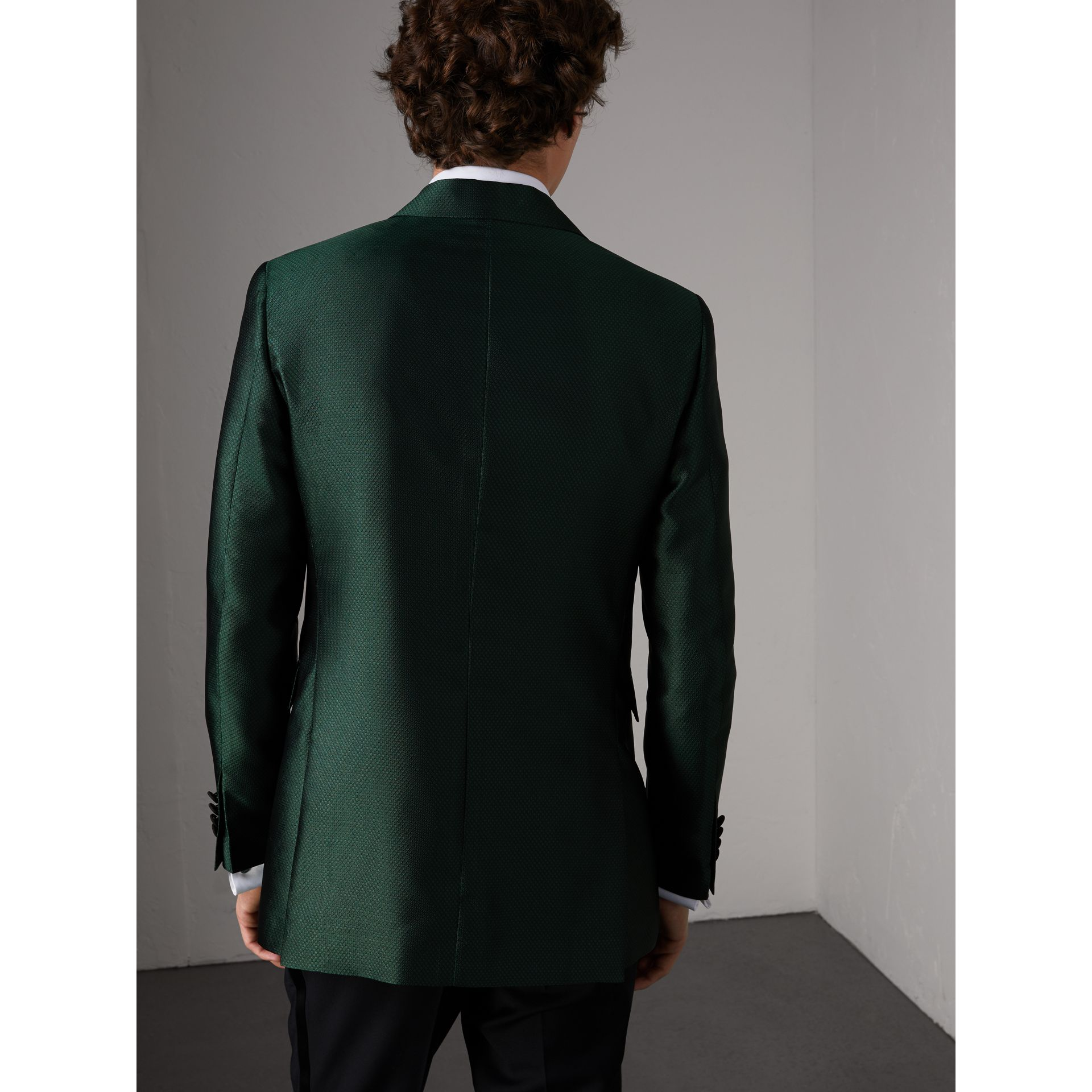 Soho Fit Jacquard Evening Jacket in Forest Green - Men | Burberry United States - gallery image 3