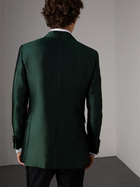 Soho Fit Jacquard Evening Jacket in Forest Green - Men | Burberry United States - cell image 2