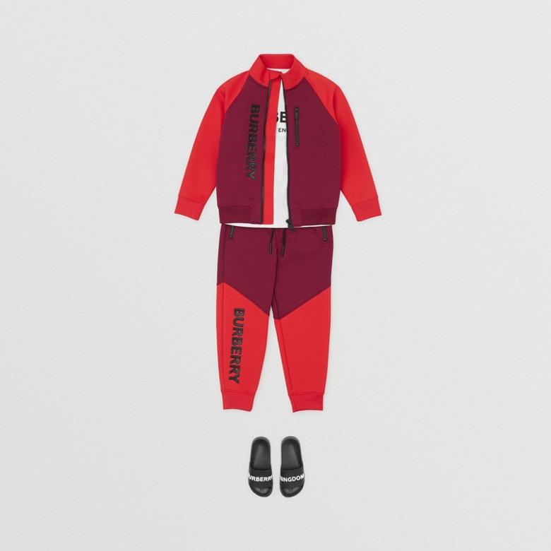 Burberry - Pantalon de survêtement en jersey stretch bicolore avec logo - 3