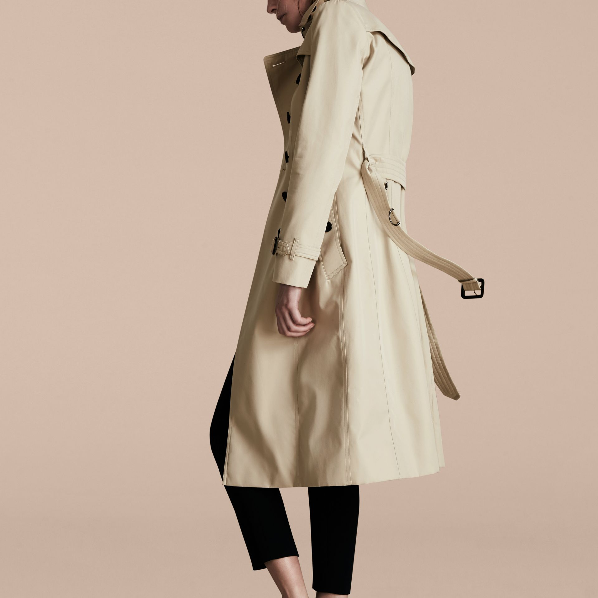 Stone The Chelsea – Extra-long Heritage Trench Coat Stone - gallery image 3
