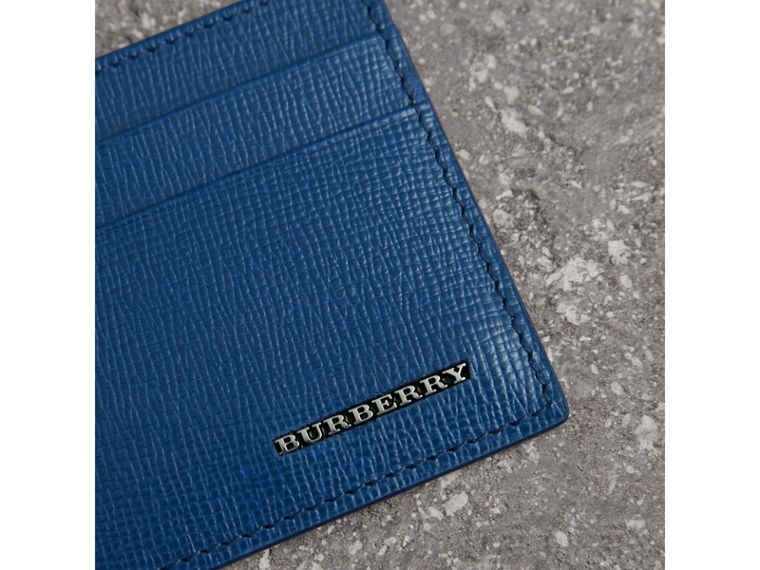 London Leather Card Case in Deep Blue | Burberry Hong Kong - cell image 1
