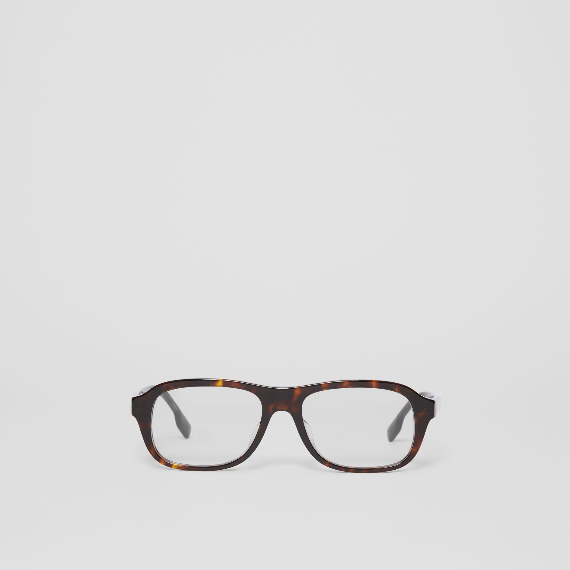 Rectangular Optical Frames in Tortoiseshell - Men | Burberry - gallery image 0