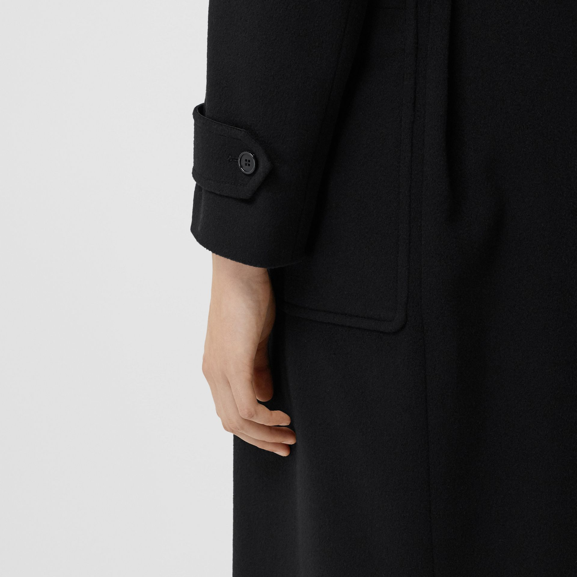 Cashmere Wrap Coat in Black - Women | Burberry - gallery image 5