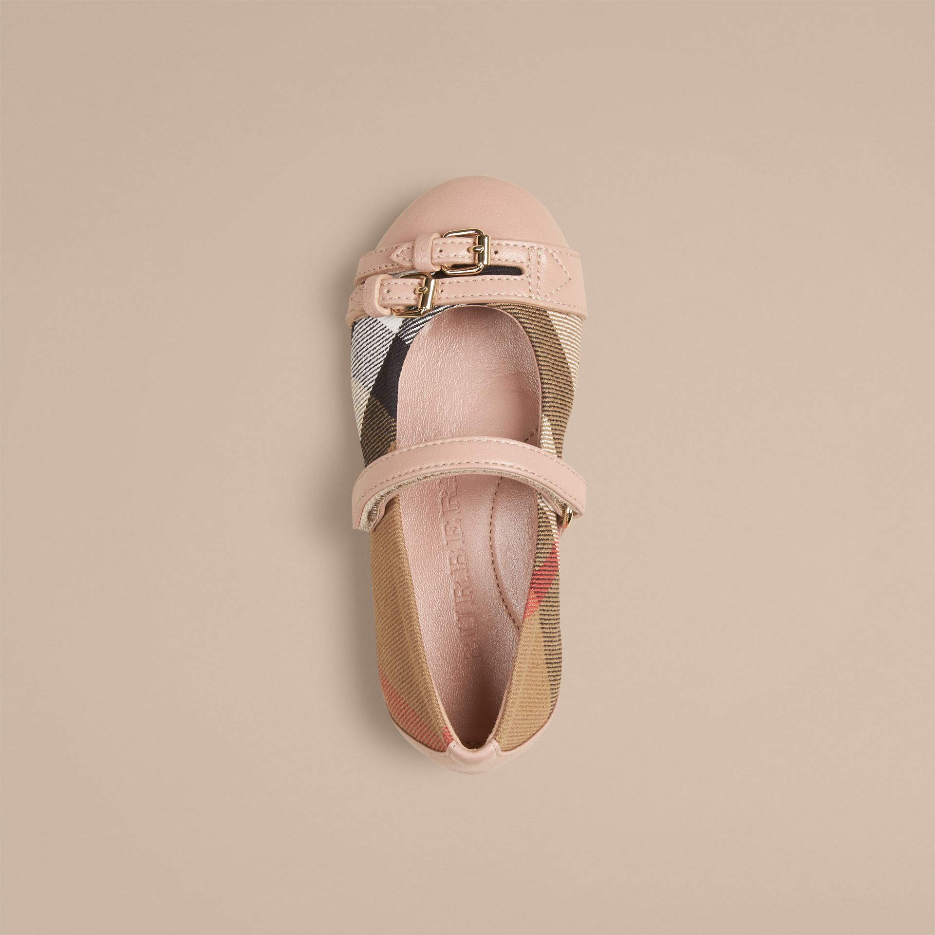Nude blush Belt Detail House Check Ballerinas Nude Blush - gallery image 3