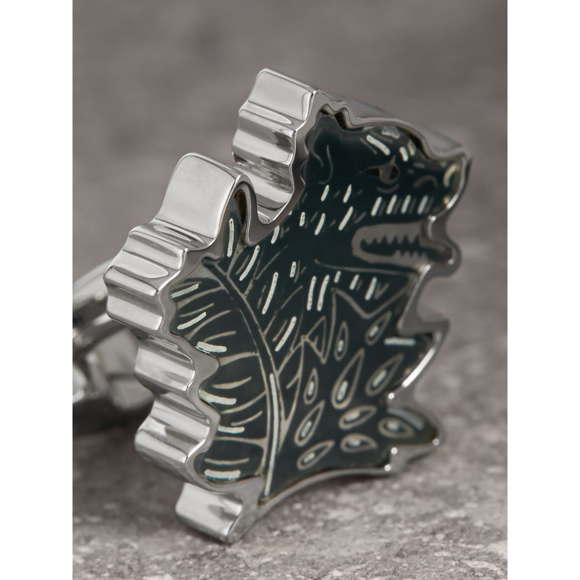 Beasts Brass Cufflinks - Men | Burberry - gallery image 2