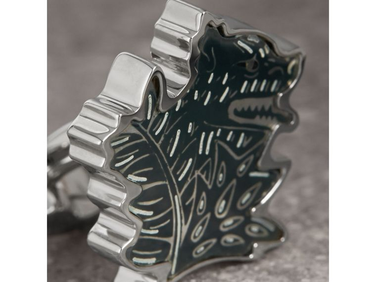 Beasts Brass Cufflinks - Men | Burberry - cell image 1