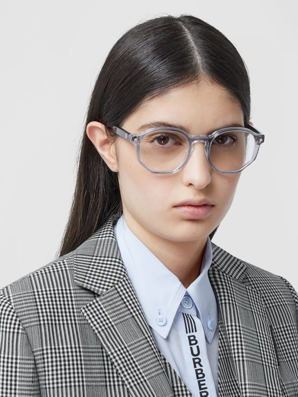 Geometric Optical Frames in Grey - Women   Burberry - cell image 2