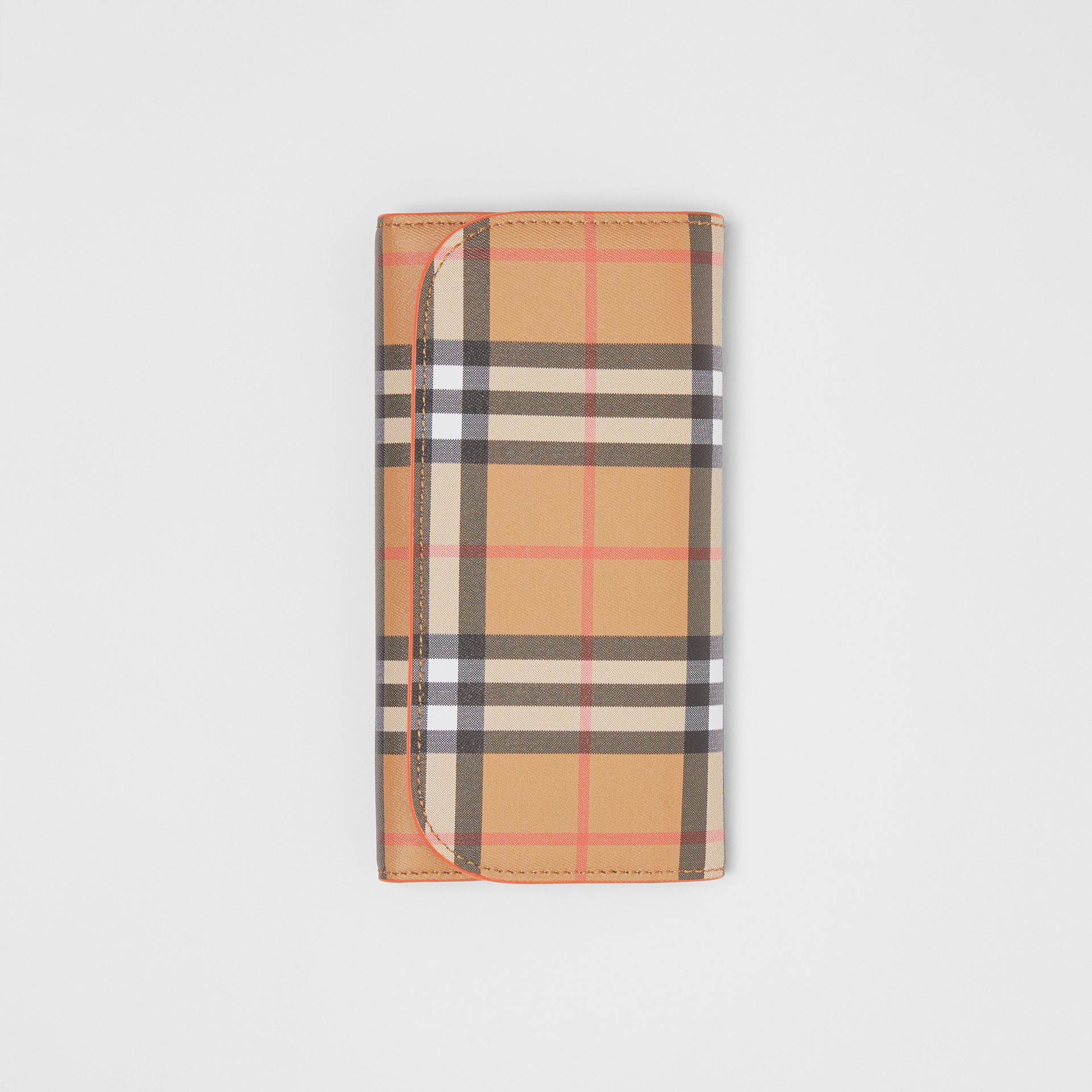 Vintage Check Continental Wallet with Zip Card Case in Clementine - Women | Burberry - gallery image 3