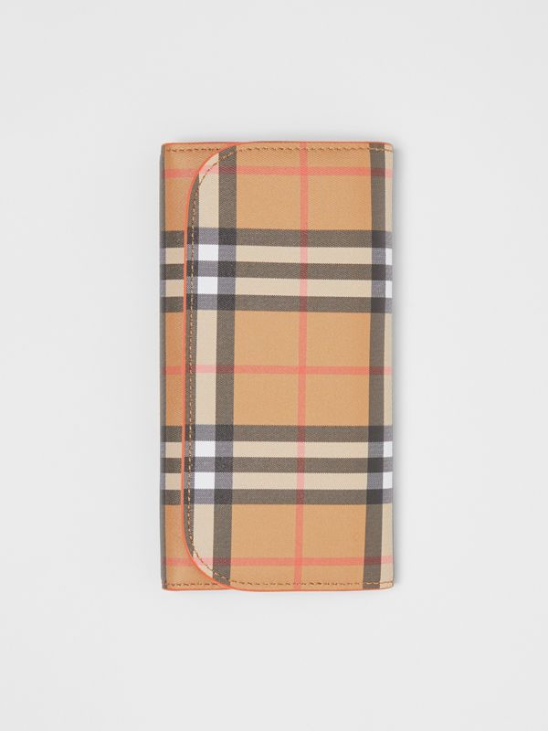 Vintage Check Continental Wallet with Zip Card Case in Clementine - Women | Burberry Canada - cell image 3
