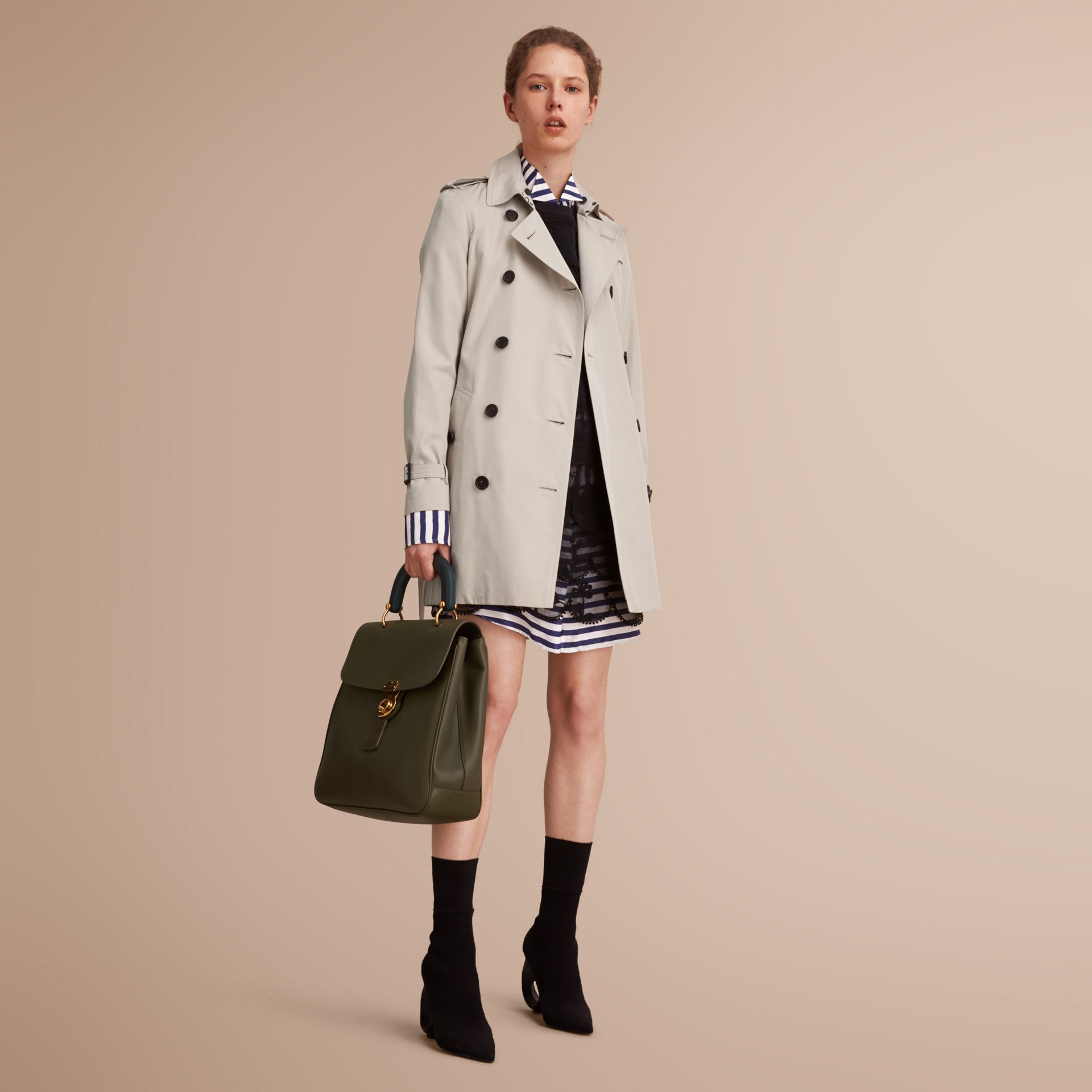 The Kensington – Mid-Length Heritage Trench Coat in Stone - Women | Burberry - gallery image 7