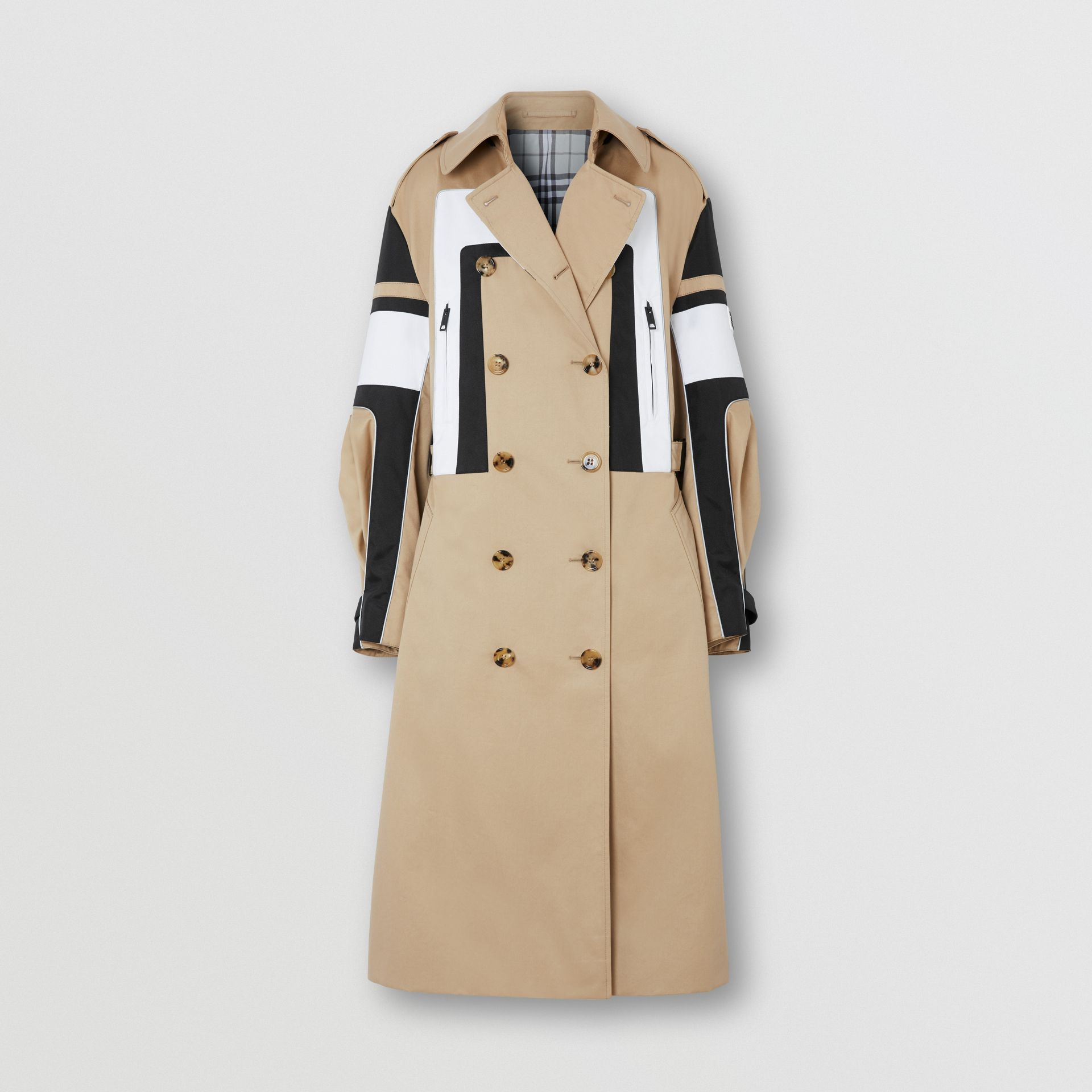 Cotton Gabardine Reconstructed Trench Coat in Soft Fawn - Women | Burberry Australia - gallery image 3