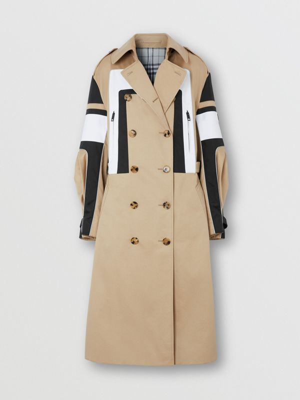 Cotton Gabardine Reconstructed Trench Coat in Soft Fawn - Women | Burberry Australia - cell image 3