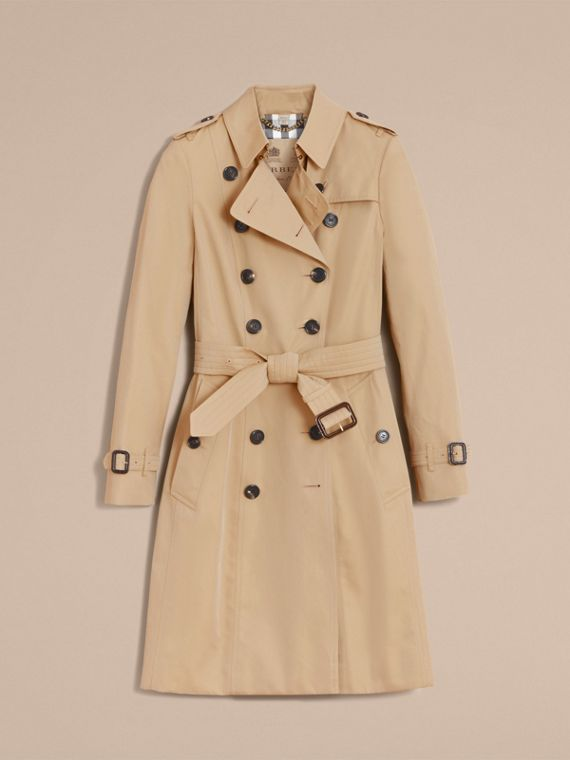 The Chelsea – Long Heritage Trench Coat Honey - cell image 3