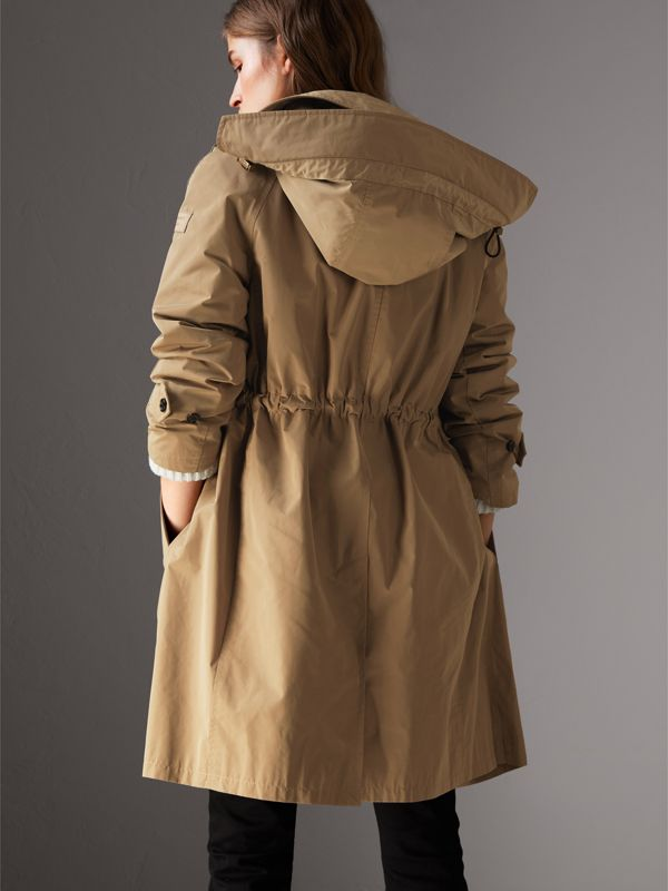 Detachable Hood Showerproof Car Coat in Sisal - Women | Burberry United Kingdom - cell image 2
