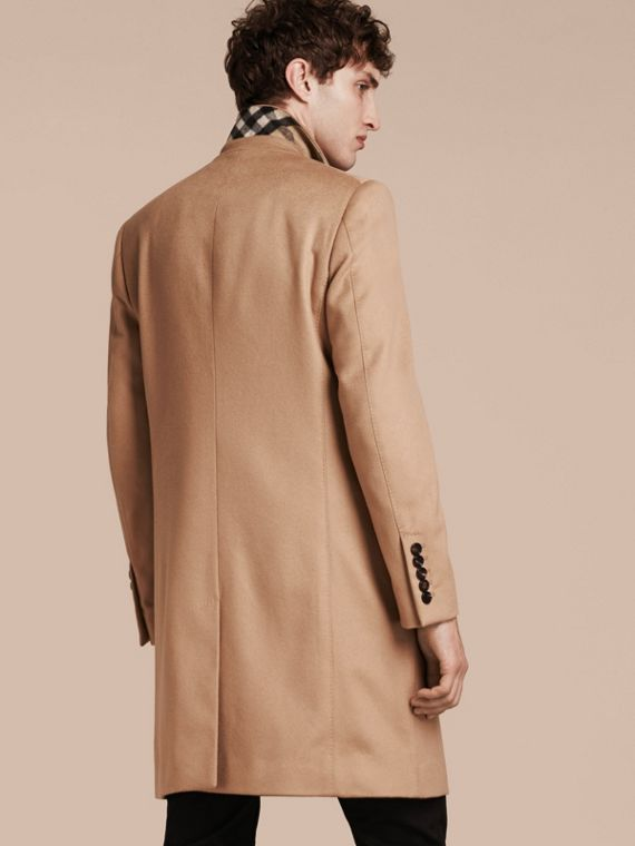 Camel Double-breasted Tailored Cashmere Coat - cell image 2