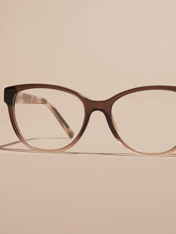 Check Detail Round Optical Frames Carnation Melange - cell image 2