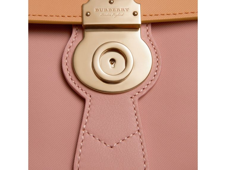 The Medium DK88 Top Handle Bag in Ash Rose/pale Clementine - Women | Burberry Singapore - cell image 1