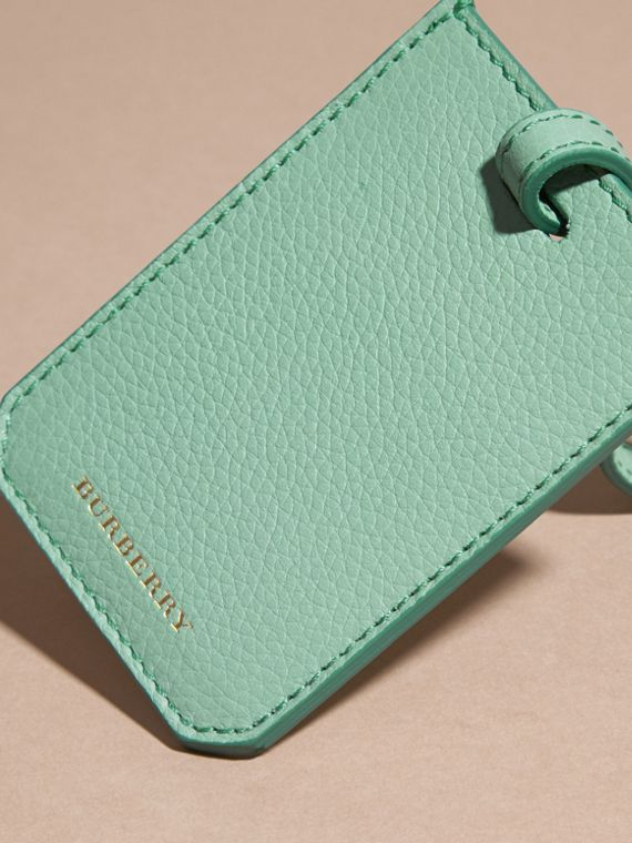 Light mint Grainy Leather Luggage Tag Light Mint - cell image 3