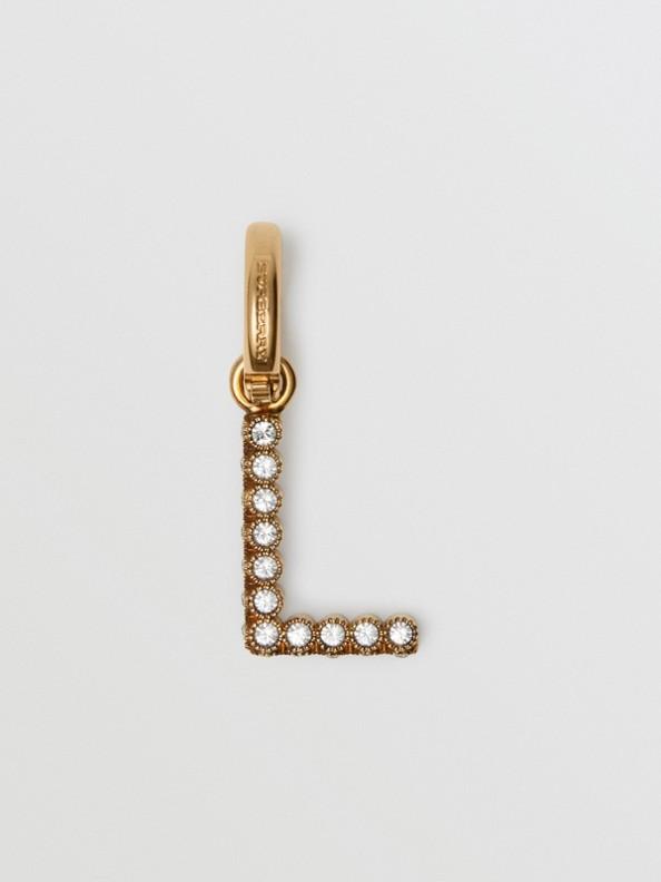 Crystal 'L' Alphabet Charm