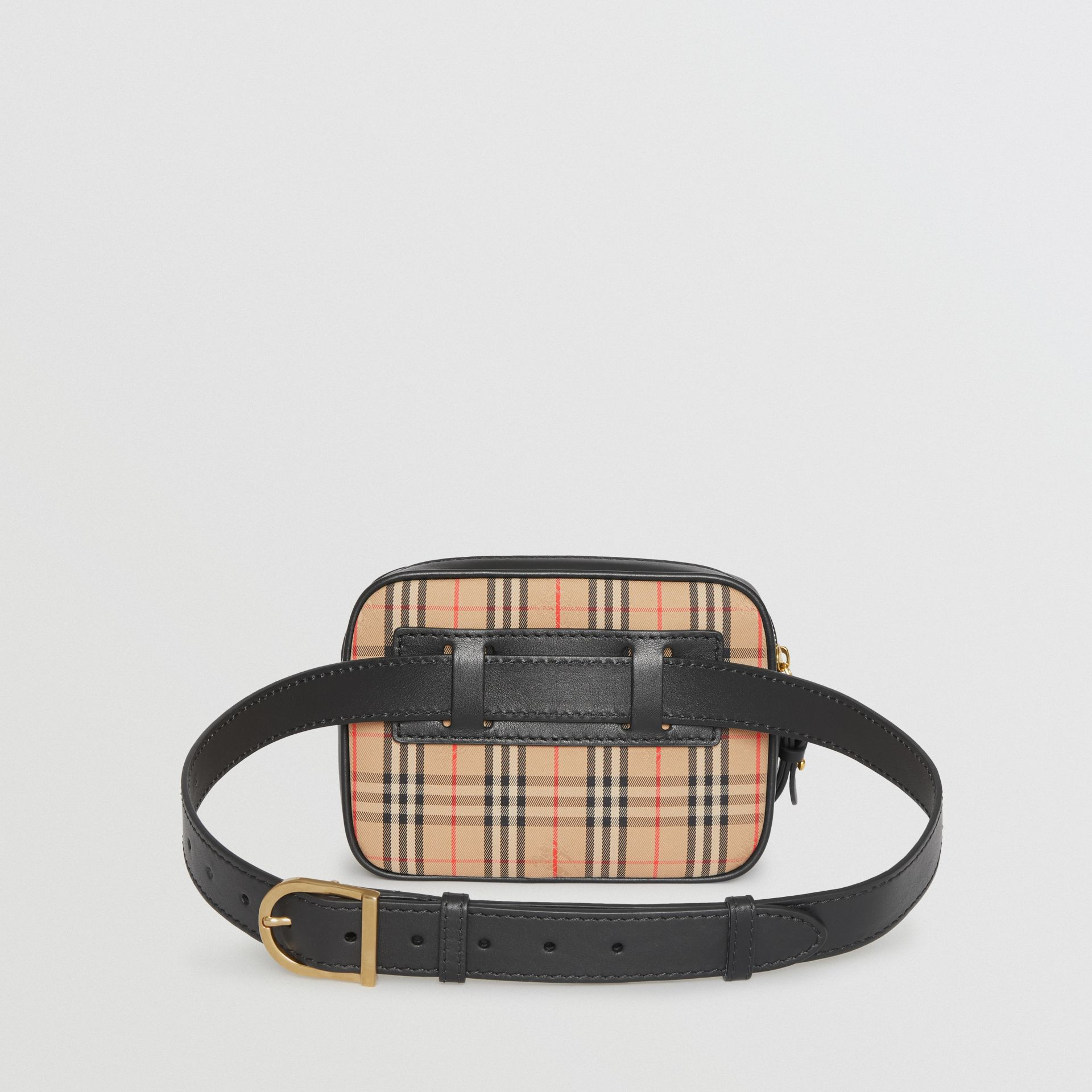 The 1983 Check Link Bum Bag with Leather Trim in Black - Women | Burberry United Kingdom - gallery image 7